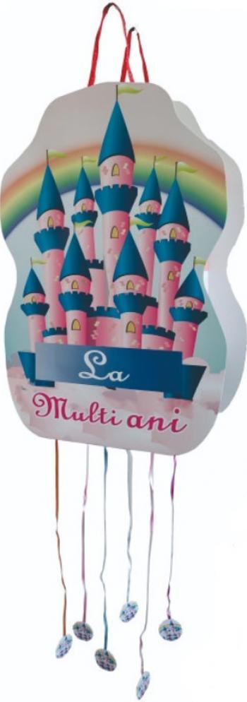 Pinata pentru petreceri cu panglici model Castel 50x35cm Decoratiuni petreceri