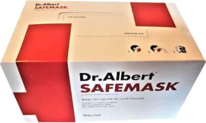 Set 50 Masti Protectie Faciala Dr. Albert Tip II 3 Straturi 3 Pliuri - ROCPDA50