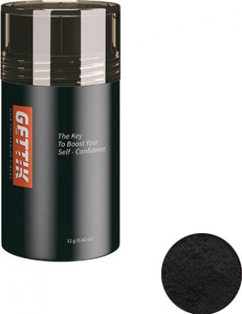 Fibre pentru par rar Gettik pudra negru 12 g Masti, exfoliant, tonice