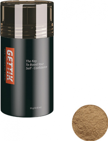 Fibre pentru par rar Gettik pudra blond inchis 12 g Masti, exfoliant, tonice