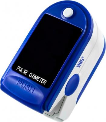 Pulsoximetru MRG M-JZK-302 Display digital Pentru deget Alb / Albastru Pulsoximetre
