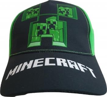Sapca copii Minecraft Creeper inside Mojang 10 ani + Negru/Verde