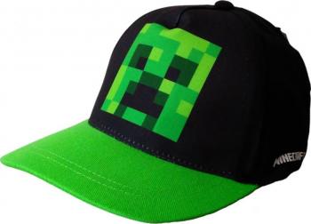 Sapca copii Minecraft Creeper Mojang 8 ani + Negru/Verde