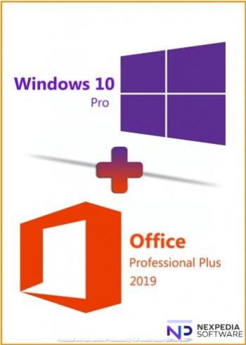 Windows 10 PRO - Licenta Retail + Microsoft Office 2019 Profesional Plus - Toate Limbile Sisteme de operare