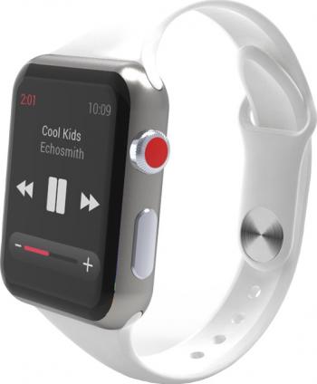 Curea Smart Watch Compatibila cu Apple Watch 1/2/3/4/5 Nike+ Bratara din Silicon Slim 38/40mm Alba Accesorii Smartwatch