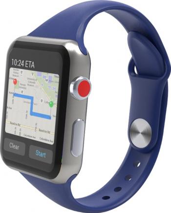 Curea Smart Watch Compatibila cu Apple Watch 1/2/3/4/5 Nike+ Bratara din Silicon Slim 38/40mm Albastru Accesorii Smartwatch