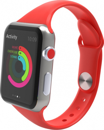 Curea Smart Watch Compatibila cu Apple Watch 1/2/3/4/5 Nike+ Bratara din Silicon Slim 38/40mm Rosu Accesorii Smartwatch