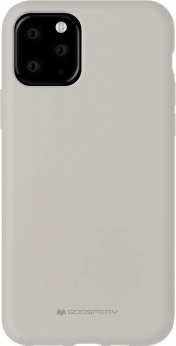 Husa Spate Mercury Silicone iPhone 11 Pro cu Interior Alcantara bej Huse Telefoane