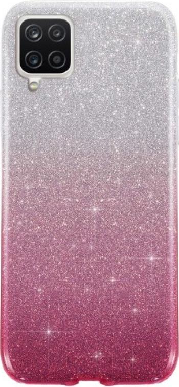 Husa Spate Upzz Shiny Compatibila Cu Samsung Galaxy A12 Silver Roz