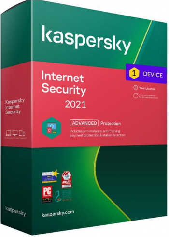 Kaspersky Internet Security 2021 1 Dispozitiv /1 An - windows/mac/android Antivirus
