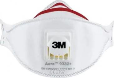 Masca de protectie respiratorie contra particulelor 3M Aura 9332+ cu supapa Masti chirurgicale si reutilizabile