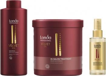 Set 3 Londa Velvet Oil 1 x Sampon 1000ml + 1 x Masca de par 750ml + 1 x Ulei de par 100ml 3 bucati