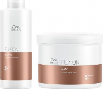 Set Wella Fusion Sampon 1000ml + Masca tratament 500ml