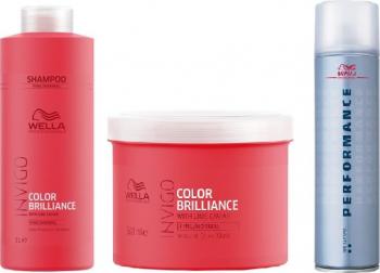 Set Wella Professionals Sampon Invigo Color Brilliance fin/normal 1000ml + Masca Invigo Color Brilliance fin/normal 500ml + Wella