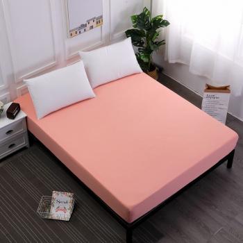 Cearsaf de pat cu elastic 90/200cm Satinat bumbac 100 Somon Lenjerii de pat
