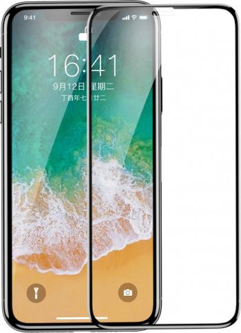 Folie Sticla Baseus Tempered Glass 9H iPhone XXS11 Pro Rigid-edge 0.3 mm Negru Folii Protectie