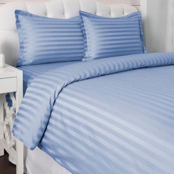 Set 2 huse perna 50/70cm Damasc bumbac 100 Blue Lenjerii de pat