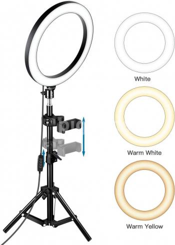 Lampa Circulara Ring Light 30 cm / 12 inch 116 x LED SMD suport de telefon si trepied inclus