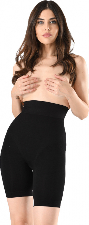 Corset dama cu pantalon scurt si banda de silicon Serena model 1227 culoare negru marimea S/M