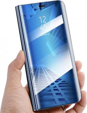 Husa Samsung Galaxy A12 5G Smart clear view albastra