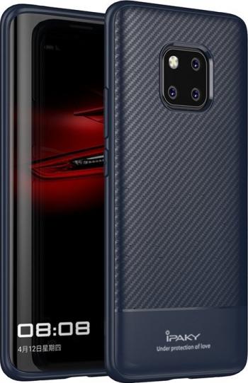 Husa Spate Premium Ipaky Slim Carbon Huawei Mate 20 Pro Albastru silicon Huse Telefoane