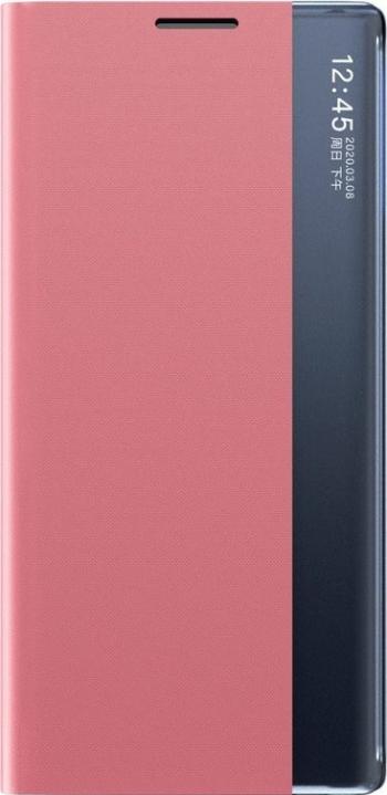 Husa Tip Carte Upzz Sleep Book Compatibila Cu Samsung Galaxy A12 Piele Ecologica - Roz