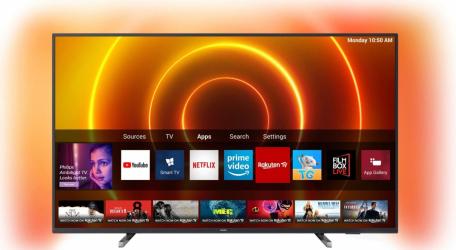 Televizor Philips 50PUS780512 Clasa G 126 cm LED Smart Ultra HD 4K Negru Televizoare