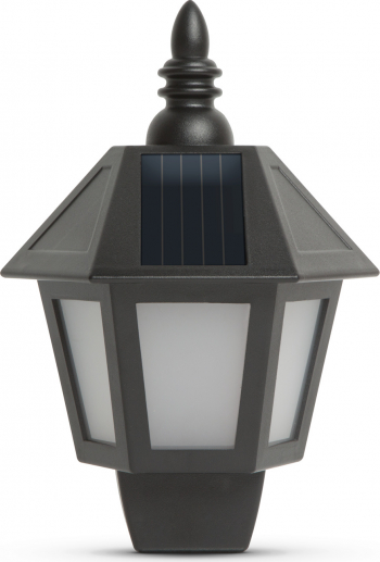 Lampa Solara LED de Perete 2-in-1cu Efect de Flacara Miscatoare sau Lumina Fixa Alba Dimensiuni 28x19cm Corpuri de iluminat