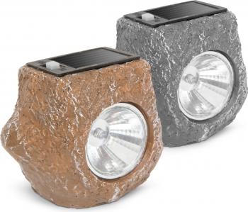 Lampa Solara LED Imitatie Piatra Dimensiuni 85x67x70mm Corpuri de iluminat