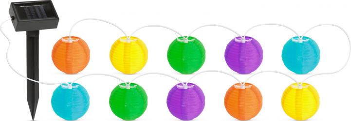 Lampi Solare LED tip Sir 10 Lampioane Multicolore Diametru 7cm Lungime 377cm Corpuri de iluminat