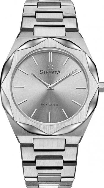 Ceas Stemata Signum quartz argintiu total otel inoxidabil 38 mm