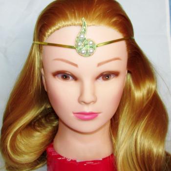 Diadema Elven Rose Design Povestile Marii handmade cupru perle de cultura Accesorii Dama