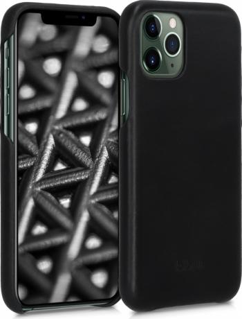 Husa pentru Apple iPhone 11 Pro Max Piele naturala Negru 49738.01 Huse Telefoane