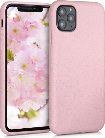 Husa pentru Apple iPhone 11 Pro Max Fibre vegetale Roz 50318.10 Huse Telefoane