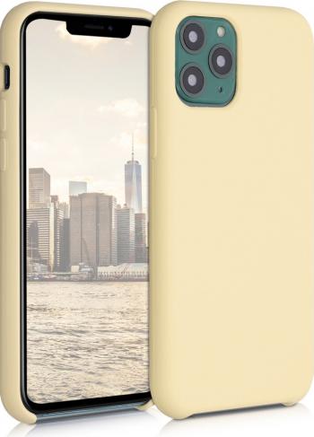 Husa pentru Apple iPhone 11 Pro Silicon Crem 49726.210 Huse Telefoane