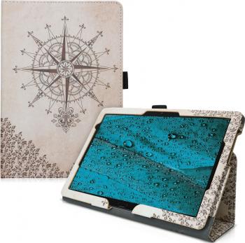 Husa pentru Huawei MediaPad M5 Lite Piele ecologica Maro 46782.03