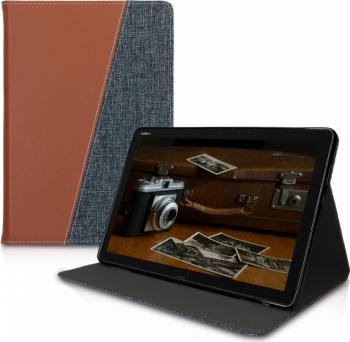 Husa pentru Huawei MediaPad M5 Lite Textil Maro 46990.01