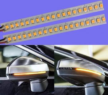 Set 2 x benzi led pentru semnalizare dinamica / secventiala pentru oglinda de 15cm 18 cm 28 cm