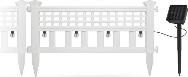 Set 4 buc. Gardulet Decorativ cu Lampi Solare LED 2-in-1 Incorporate Lungime Totala 228cm Alb Corpuri de iluminat