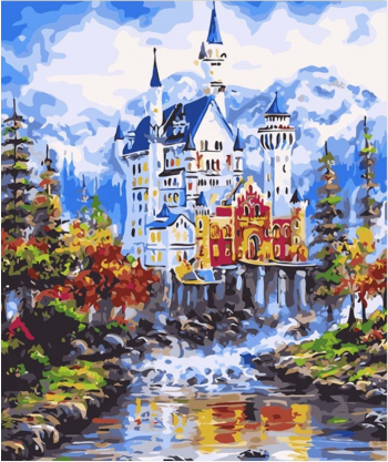 Set pictura pe numere Castel de poveste Tablouri