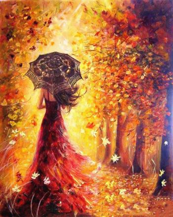 Set pictura pe numere Tablou Zana Toamna Tablouri