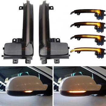 Set semnalizare dinamica oglinda laterala Audi A3 A4 A5 B8 B8.5 Q3 A6 C6 4F S6