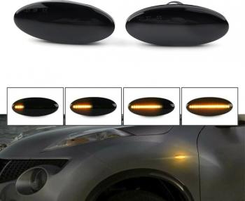 Set Semnalizare Dinamica Secventiala Fumurie Aripa Nissan Qashqai X-trail Cube Juke Leaf Micra