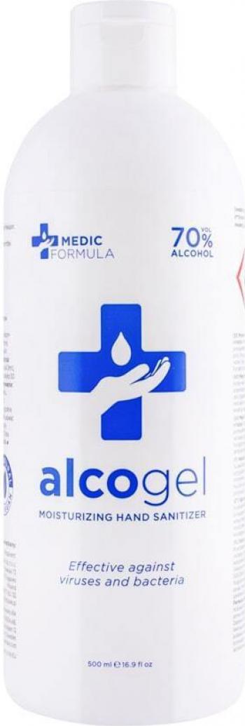 Dezinfectant de maini hidratant Medic Formula 500 ml -70 alcool Gel antibacterian