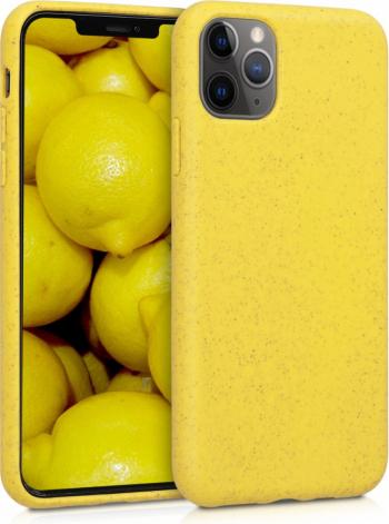 Husa pentru Apple iPhone 11 Pro Max Fibre vegetale Galben 50318.06 Huse Telefoane