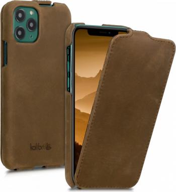 Husa pentru Apple iPhone 11 Pro Piele naturala Maro 49807.05 Huse Telefoane