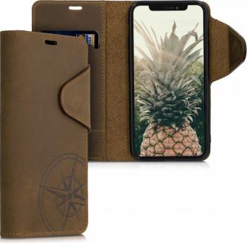 Husa pentru Apple iPhone 11 Pro Piele naturala Maro 51353.01 Huse Telefoane