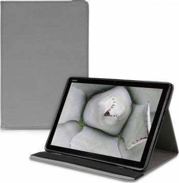 Husa pentru Huawei MediaPad M5 Lite Piele ecologica Gri 47686.73