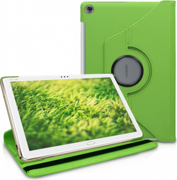 Husa pentru Huawei MediaPad M5 Lite Piele ecologica Verde 46118.07