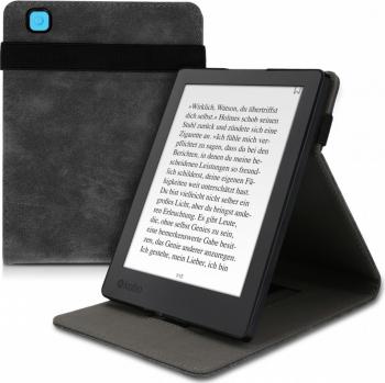 Husa pentru Kobo Aura H2O Edition 2 Piele ecologica Gri 48536.22 Huse Tablete